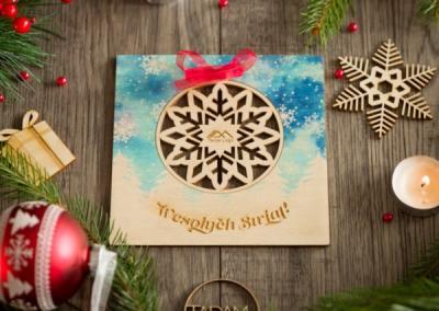 Kartka świąteczna bomka