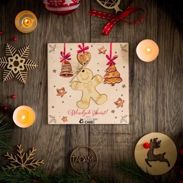 Kartka świąteczna z Bałwankiem