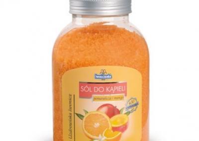 Sól do kąpieli pomarańcza i mango 1200g