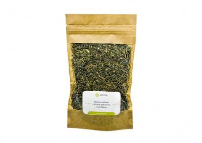 Herbata zielona z liściem pokrzywy i czystkiem