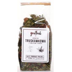 Herbatka truskawkowa z liści konopi