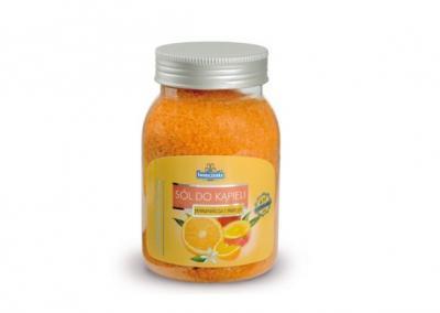 Sól do kąpieli pomarańcza i mango 600g plastik