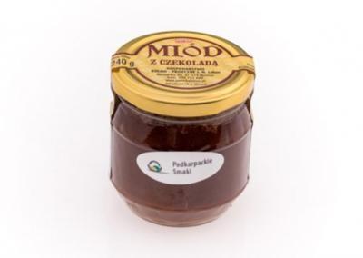 Miód z czekoladą -słoik 240 g