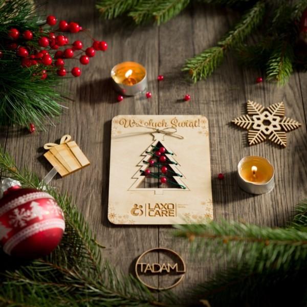 Kartka świąteczna z choinka