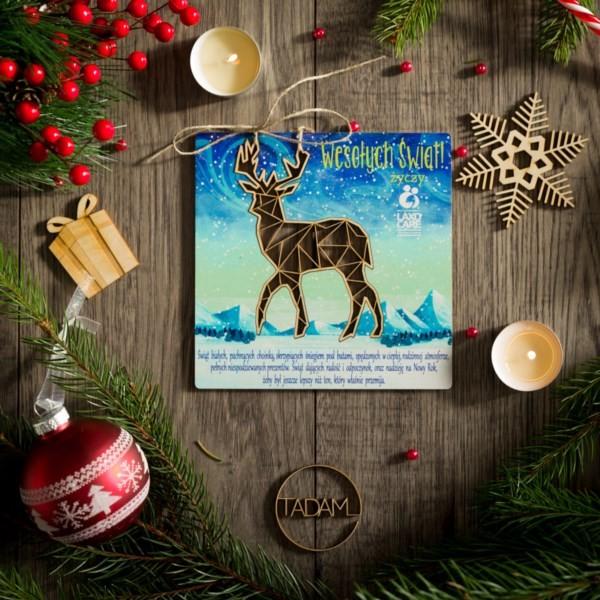 Kartka świąteczna z Jelonkiem